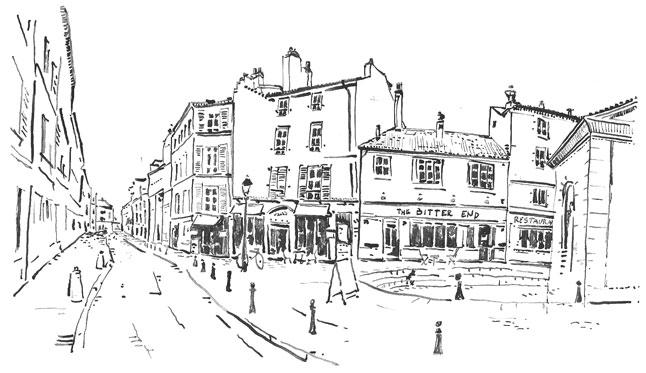 St-Germain-en-Laye - dessin à la plume