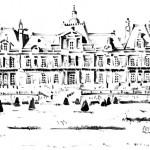 Décembre 2012 – Esquisse du Château de Maisons Laffitte à l'encre de chine et au bambou