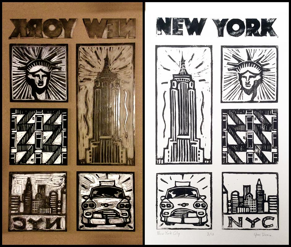 linocut_new_york