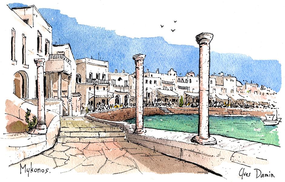 Peinture de Mykonos